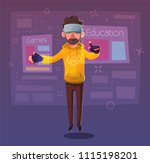 character wear virtual reality... | Shutterstock .eps vector #1115198201