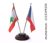 lebanon and czech  two table... | Shutterstock . vector #1115199254