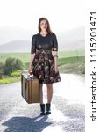 woman photo traveling in the...   Shutterstock . vector #1115201471