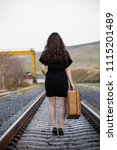 woman photo traveling in the... | Shutterstock . vector #1115201489