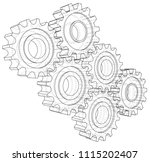 gear sketch. vector rendering... | Shutterstock .eps vector #1115202407