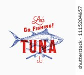 fishing tuna. abstract vector... | Shutterstock .eps vector #1115204657