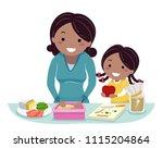 illustration of a stickman kid... | Shutterstock .eps vector #1115204864