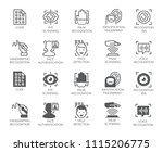 set of biometric buttons. 10...   Shutterstock .eps vector #1115206775