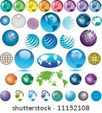 38 vector globes to choose from   Shutterstock .eps vector #11152108