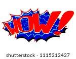 comic text speech. icon... | Shutterstock . vector #1115212427