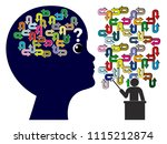 child getting confused by... | Shutterstock . vector #1115212874