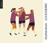 womens european football ...   Shutterstock .eps vector #1115218484