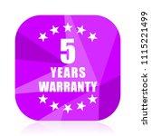 warranty guarantee 5 year...   Shutterstock .eps vector #1115221499