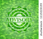 advisory green mosaic emblem | Shutterstock .eps vector #1115223155