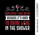funny wine quote and saying.... | Shutterstock .eps vector #1115228807