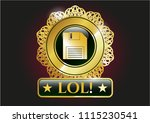 gold shiny emblem with... | Shutterstock .eps vector #1115230541