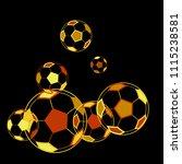background with soccer balls.... | Shutterstock .eps vector #1115238581