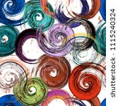 seamless swirls pattern ... | Shutterstock .eps vector #1115240324