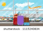 international airport concept.... | Shutterstock .eps vector #1115240834