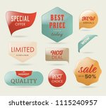 sale banner and label and... | Shutterstock .eps vector #1115240957