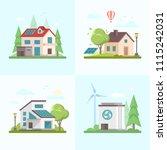 eco friendly complex   set of... | Shutterstock . vector #1115242031