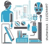 engineering tools and... | Shutterstock .eps vector #1115244497