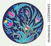 arabic  flowers  ornaments...   Shutterstock .eps vector #1115244641