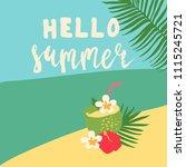 minimal summer trendy vector... | Shutterstock .eps vector #1115245721