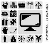 set of 17 busineset of 17... | Shutterstock .eps vector #1115252831