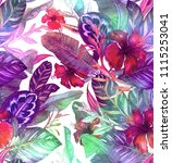 seamless holographic pattern... | Shutterstock . vector #1115253041