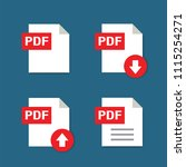 pdf formate file icons with...   Shutterstock .eps vector #1115254271