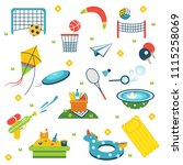 summer holiday activity symbols ... | Shutterstock .eps vector #1115258069