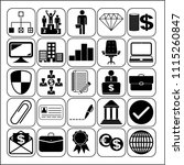 set of 25 business high quality ... | Shutterstock .eps vector #1115260847