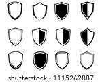 set  shield  icons vector... | Shutterstock .eps vector #1115262887