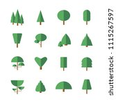 tree icon set | Shutterstock .eps vector #1115267597