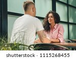 close up on a man and a woman... | Shutterstock . vector #1115268455
