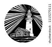 lighthouse  beacon  pharos... | Shutterstock .eps vector #1115270111