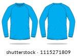 cyan long sleeve t shirt   ...   Shutterstock .eps vector #1115271809