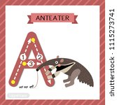 letter a uppercase cute... | Shutterstock .eps vector #1115273741