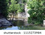 Summer Swimming Hole In a Gorge In Upstate New York