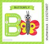 letter b uppercase cute... | Shutterstock .eps vector #1115276807