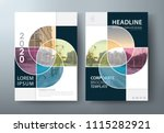 annual report brochure flyer... | Shutterstock .eps vector #1115282921