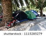 refugees and migrants in a... | Shutterstock . vector #1115285279