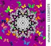 vector. pattern for fabric ... | Shutterstock .eps vector #1115285375