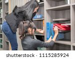 secretary and purchasing... | Shutterstock . vector #1115285924