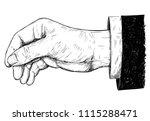 vector artistic pen and ink... | Shutterstock .eps vector #1115288471