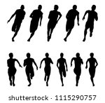 set runners sprinters men and... | Shutterstock .eps vector #1115290757