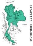 thailand map | Shutterstock .eps vector #111529169