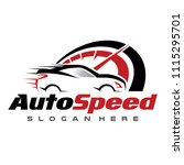 car and speed automotive logo... | Shutterstock .eps vector #1115295701