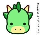 vector cute dragon face... | Shutterstock .eps vector #1115297654