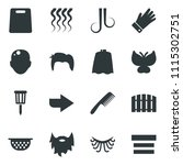 black vector icon set comb... | Shutterstock .eps vector #1115302751