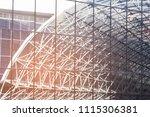 reflection modern window facade ... | Shutterstock . vector #1115306381