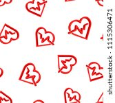 heartbeat line with heart icon...   Shutterstock .eps vector #1115306471