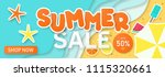 summer sale background for... | Shutterstock .eps vector #1115320661